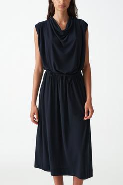COS Cowl Neck Cotton Dress