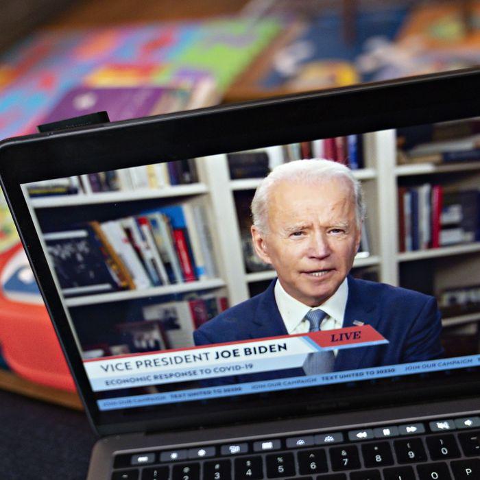 Vice President Biden is social distancing.