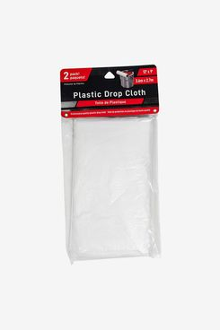 Jacent 12 x 9 Foot Painter's Plastic Drop Cloth, 2 Count