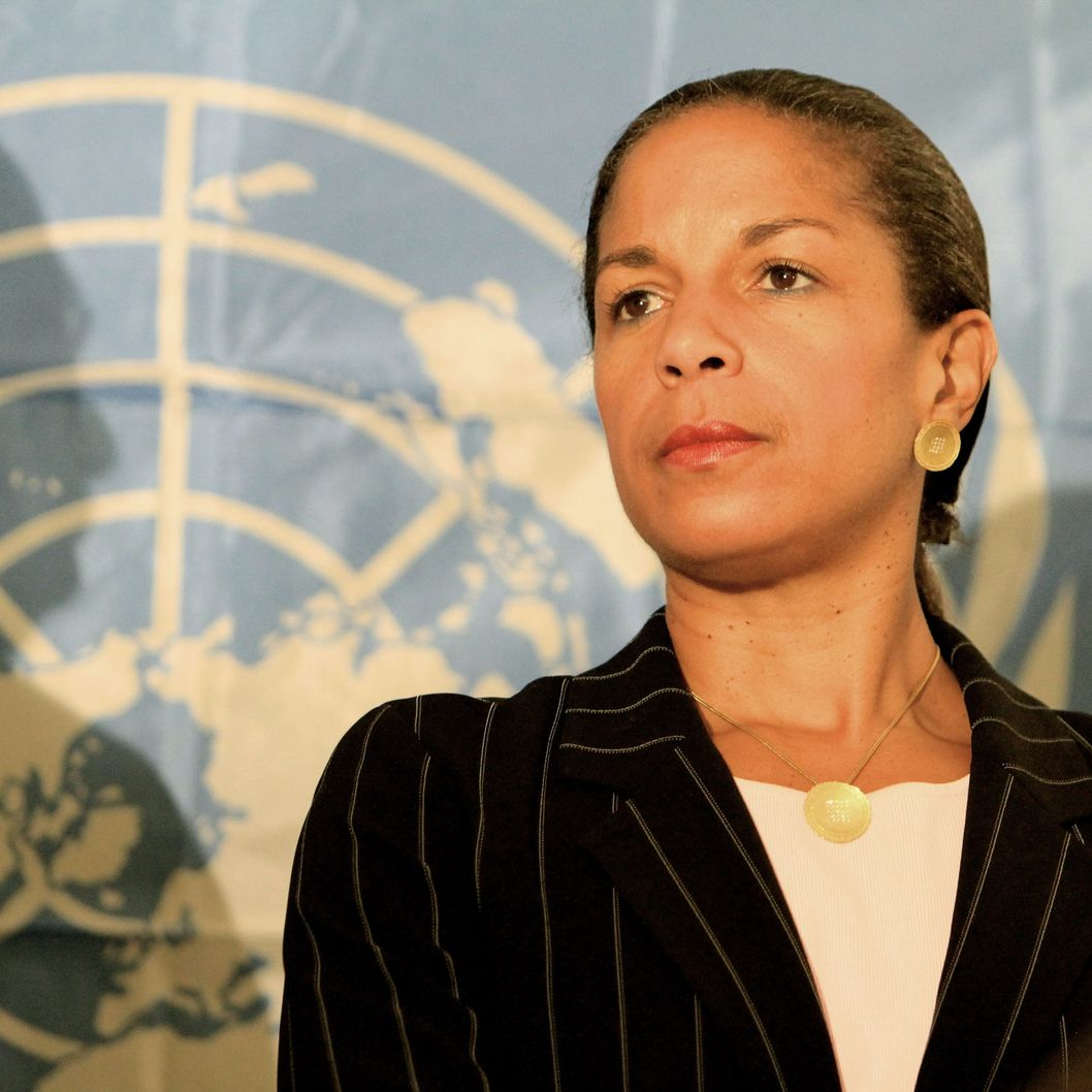 US Ambassador to the UN Susan Rice is seen during a press conference in Khartoum on October 9, 2010, on the last day of an official visit to Sudan by UN Security Council ambassadors. AFP PHOTO/ASHRAF SHAZLY (Photo credit should read ASHRAF SHAZLY/AFP/Getty Images)