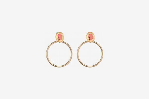 Kate Spade New York Drop Hoop Earrings