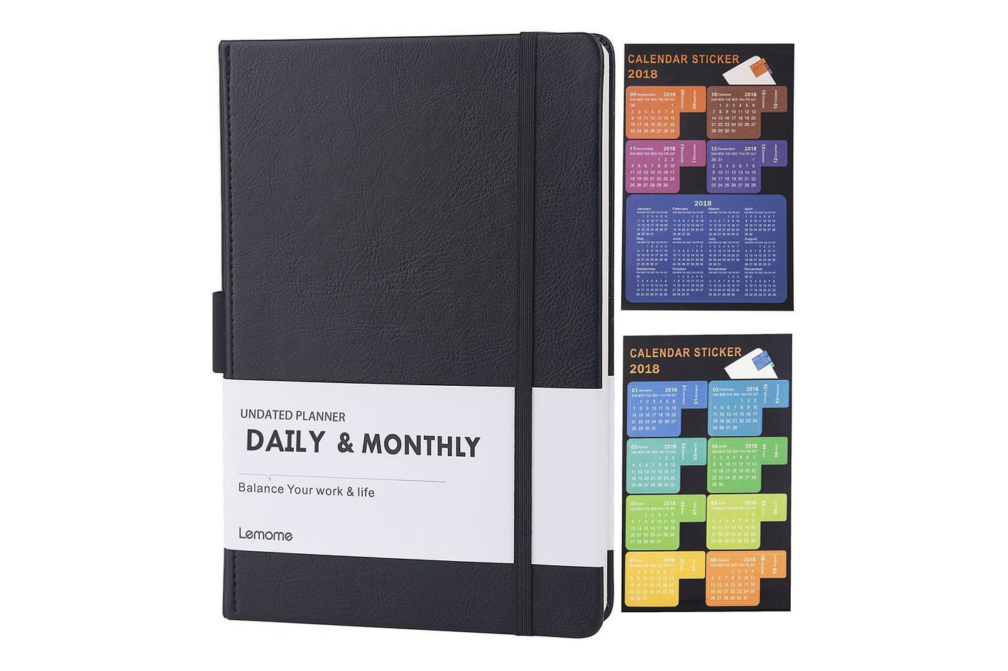 lemome undated daily and monthly planner