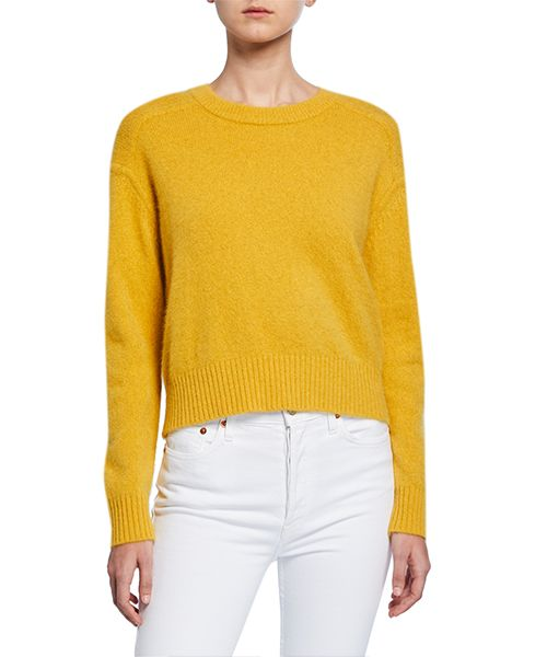 Drop-Shoulder Superfine Wool Sweater