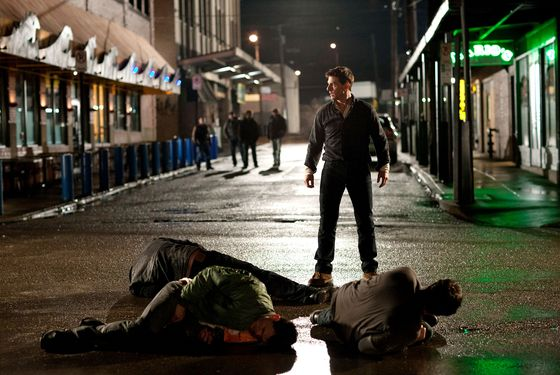 Tom Cruise (center) is Reacher in JACK REACHER, from Paramount Pictures and Skydance Productions.