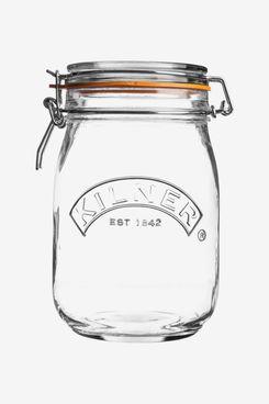 Kilner Round Clip Top Glass Jar, 1L
