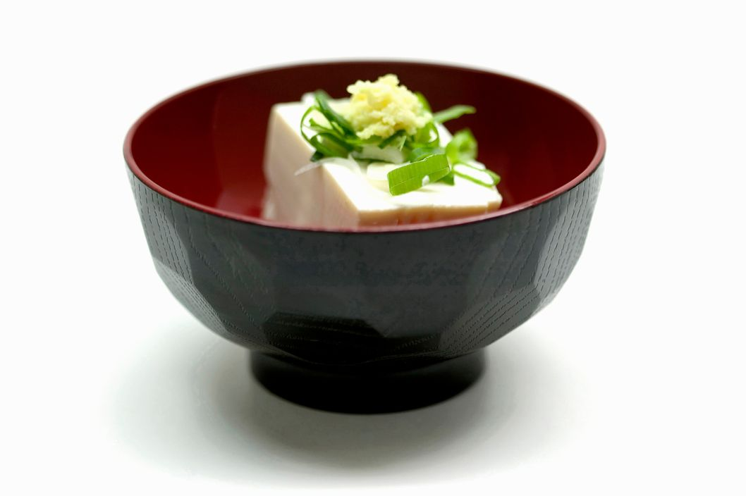 Close up of bowl of Japanese food