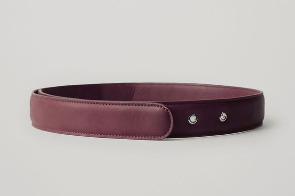Padded Nappa Leather Belt