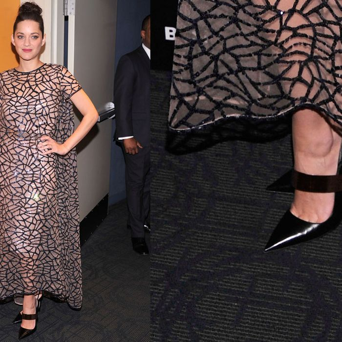 Marion Cotillard and the problematic shoes.