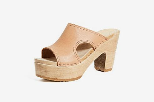 No. 6 Alexis Leather Clogs