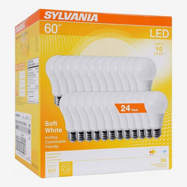 Sylvania 60W Equivalent LED Light Bulb, A19 Lamp, Soft White (24-Pack)