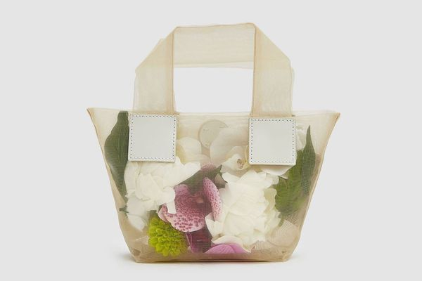 Kara Baby Puffer Tote with Flowers