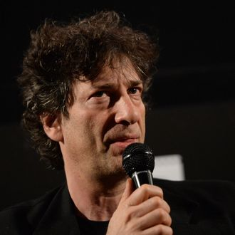 HOLLYWOOD, CA - MAY 05: Writer Neil Gaiman attends the screening for
