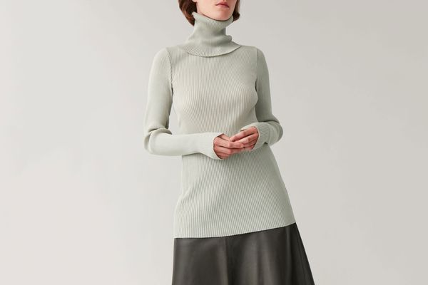 COS Roll-Neck Ribbed Top