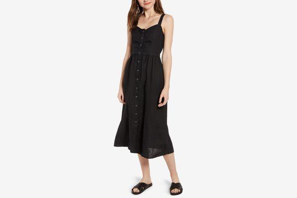 Treasure & Bond Linen Midi Dress