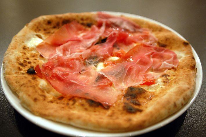 Your own personal prosciutto pizza.