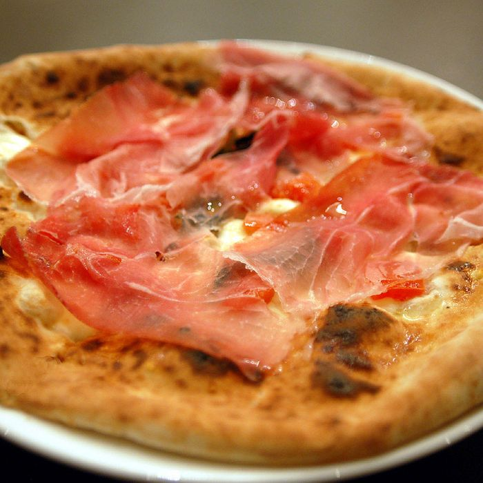 Your own personal prosciutto pizza.
