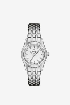 Bulova Women's Bracelet Silver White Dial Watch 96l127
