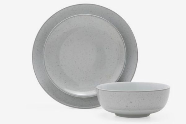 MoDRN Industrial Speckle 12 Piece Dinnerware Set, Grey