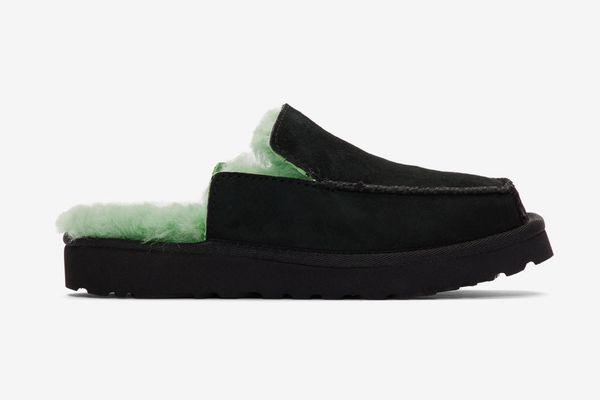 Eckhaus Latta Black and Green UGG Edition Block Slide Slippers