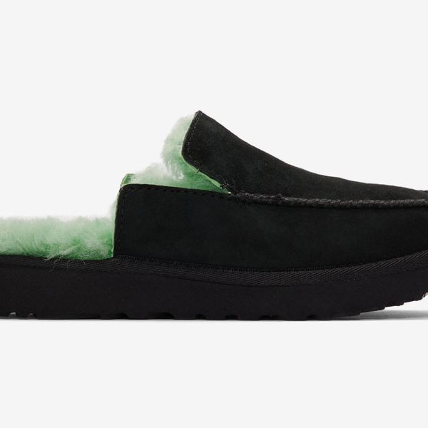 Eckhaus Latta Black and Green UGG Edition Block Slide Slippers