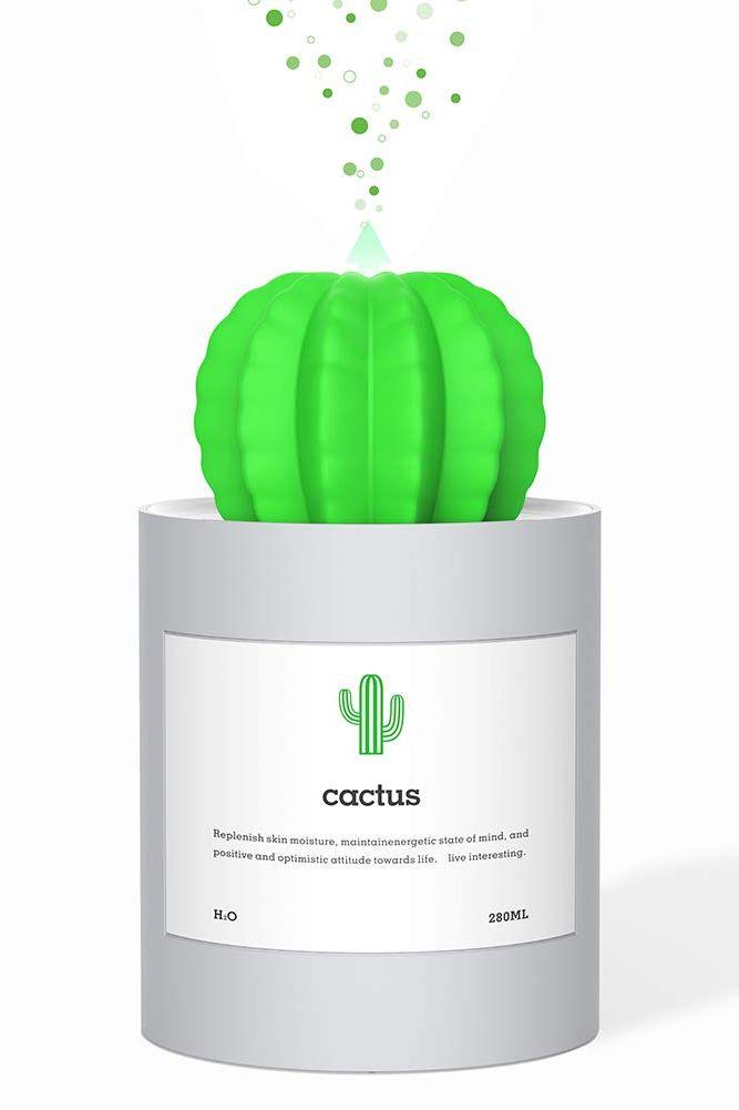 AmuseNd USB Humidifier 280ml Cactus Shape