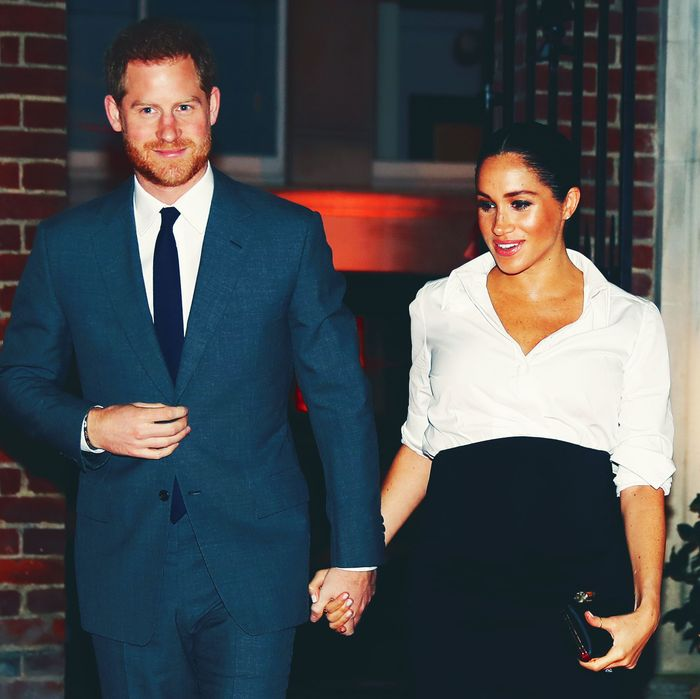 Prince Harry and Meghan Markle, in real life (not in Lifetime form).