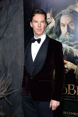 "HOLLYWOOD, CA - DECEMBER 02:  Actor Benedict Cumberbatch attends the premiere of Warner Bros' ""The Hobbit: The Desolation Of Smaug"" at TCL Chinese Theatre on December 2, 2013 in Hollywood, California.  (Photo by Mark Davis/Getty Imag"