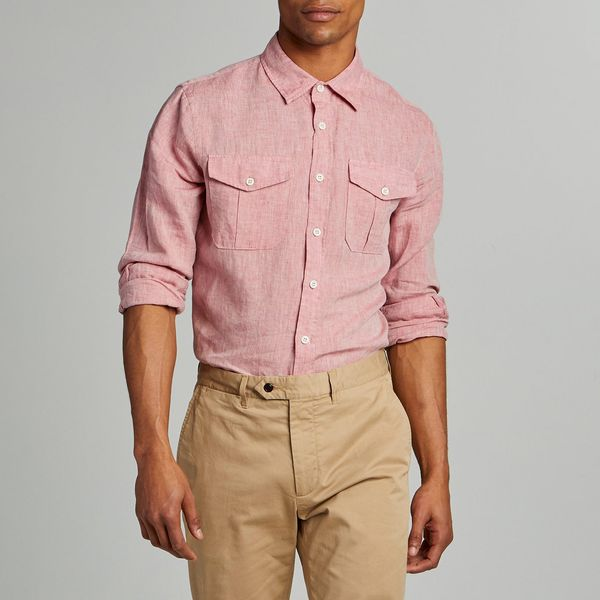 Todd Snyder Italian Two-pocket Linen Utility Shirt