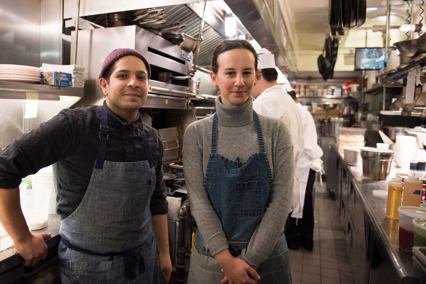 Koslow and Javier Ramos, her chef de cuisine.