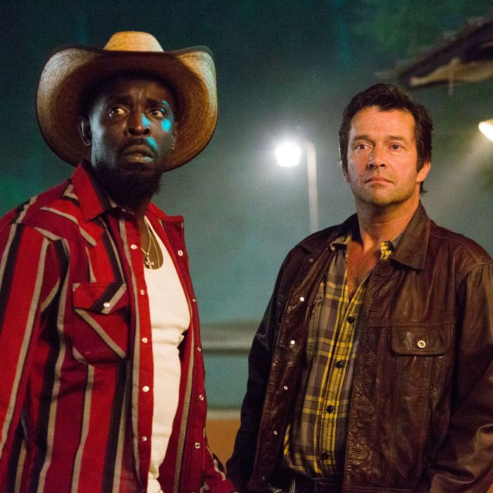 James Purefoy as Hap Collins and Michael Kenneth Williams as Leonard Pine - Hap and Leonard _ Season 1, Press Kit - Photo Credit: Hilary Gayle/SundanceTV
