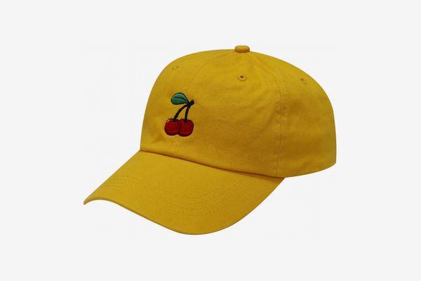 Capsule Design Small Cherry Cotton Baseball Dad Cap Gold