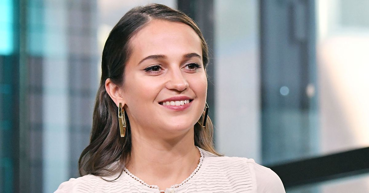 Actress Alicia Vikander speaks at the Build Studio on March 14, 2018 in New York City.