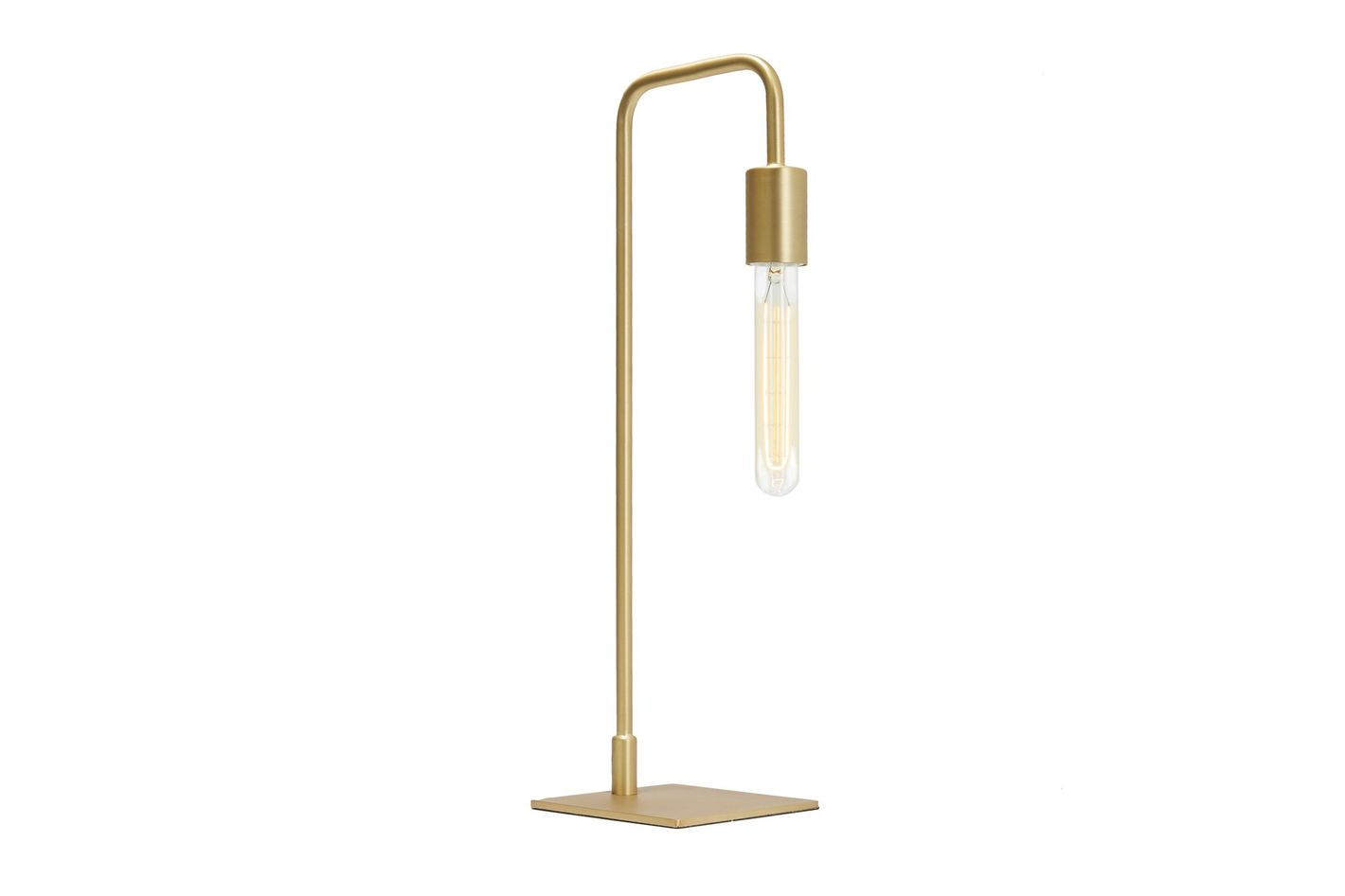 Aged Brass 1-Light Fully Dimmable Plugin Hoyt Table Lamp