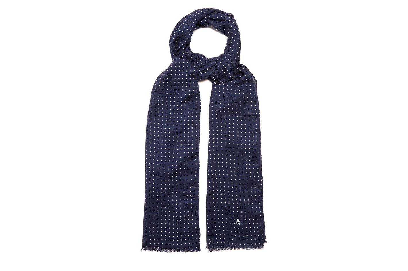Dunhill Polka Dot Wool-Blend Scarf