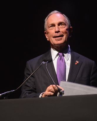 New York City Mayor Michael Bloomberg speaks onstage at the Conde Nast Traveler Celebration of