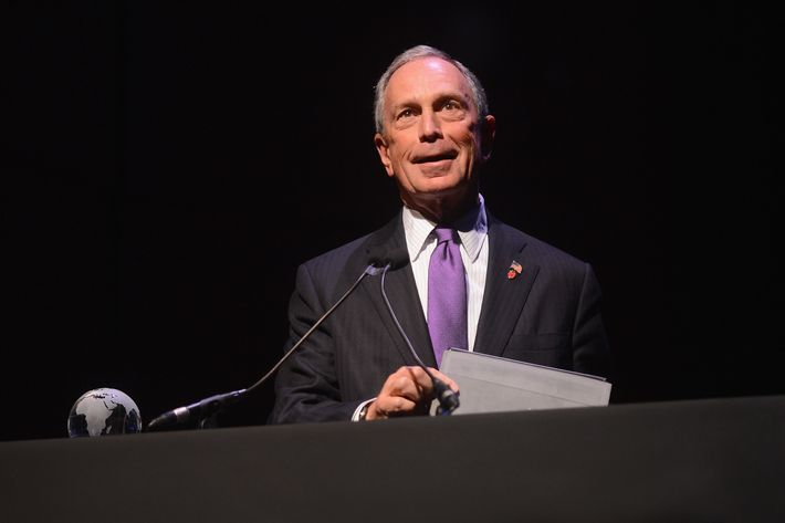 "New York City Mayor Michael Bloomberg speaks onstage at the Conde Nast Traveler Celebration of ""The Visionaries"" and 25 Years Of Truth In Travel Awards Show at Alice Tully Hall on September 18, 2012 in New York City."