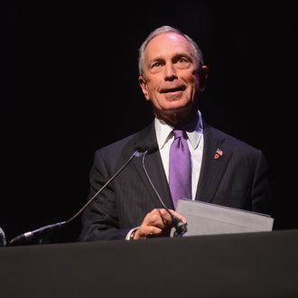 NEW YORK, NY - SEPTEMBER 18: New York City Mayor Michael Bloomberg speaks onstage at the Conde Nast Traveler Celebration of
