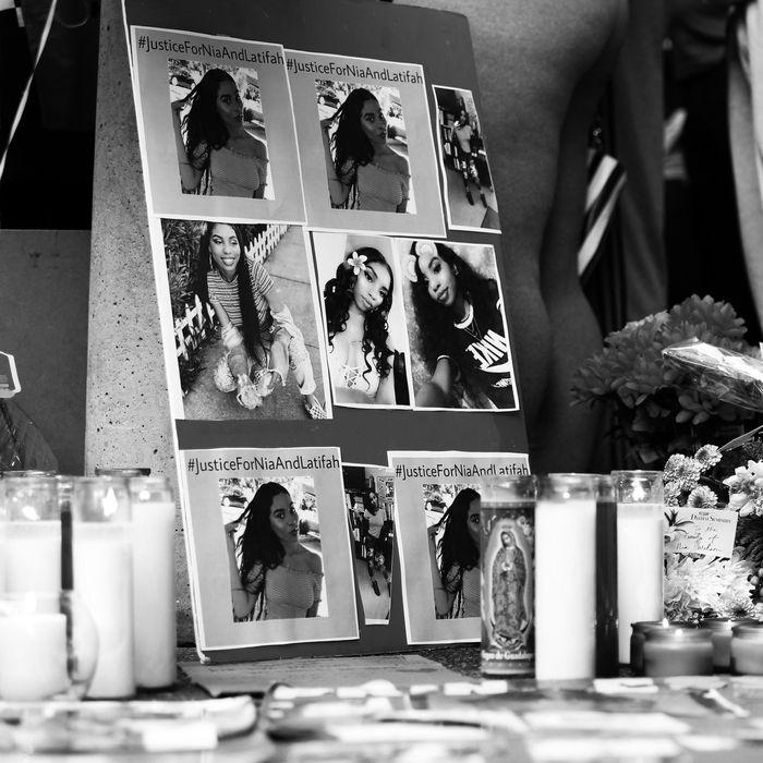 A memorial for Nia Wilson.