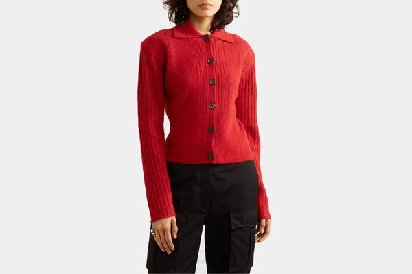 Commission Tereza ribbed-knit cardigan