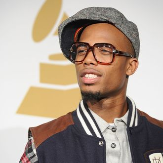 LOS ANGELES, CA - DECEMBER 01: Rapper B.o.B poses in the press room during the GRAMMY Nominations Concert Live at Club Nokia on December 1, 2010 in Los Angeles, California. (Photo by Jason Merritt/Getty Images) *** Local Caption *** B.o.B