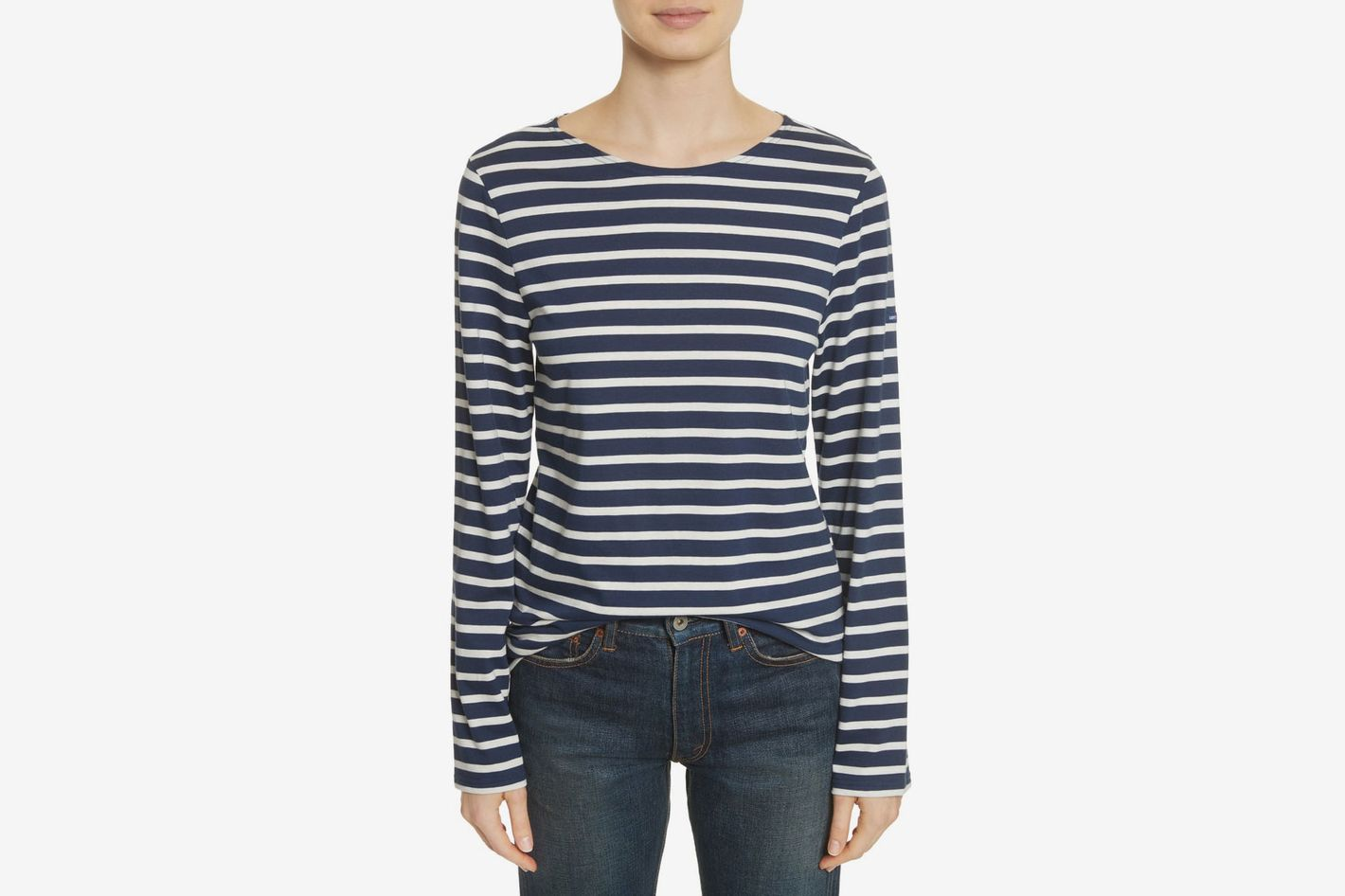 2cb452296f Saint James Minquiers Moderne Striped Sailor Shirt