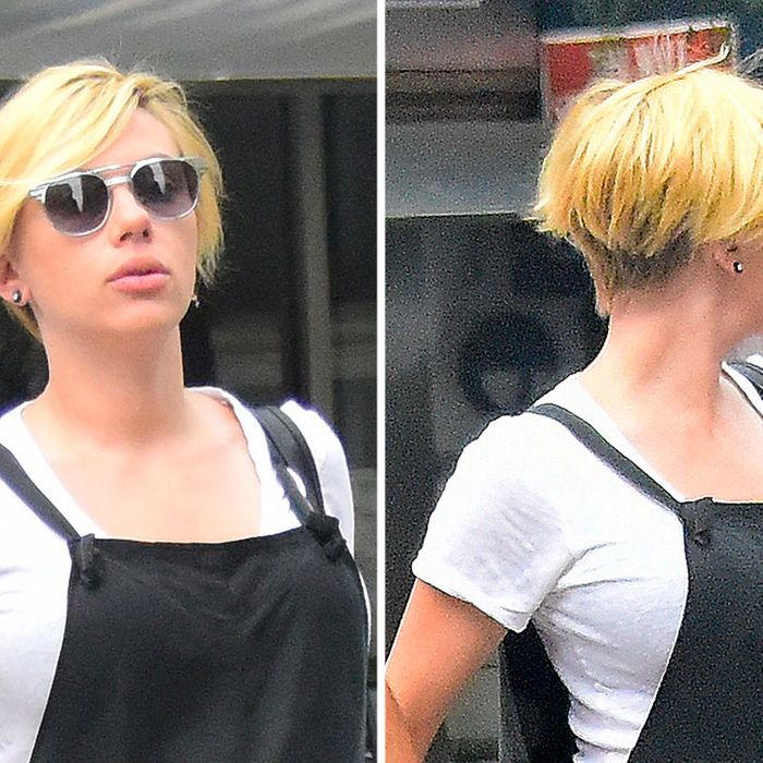 Scarlett Johansson Gets A Boy Band Haircut