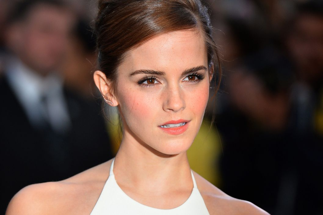 "British actress Emma Watson poses for pictures on the red carpet as she arrive for the UK premiere of her latest film ""Noah"" in Leicester Square, central London, on March 31, 2014."