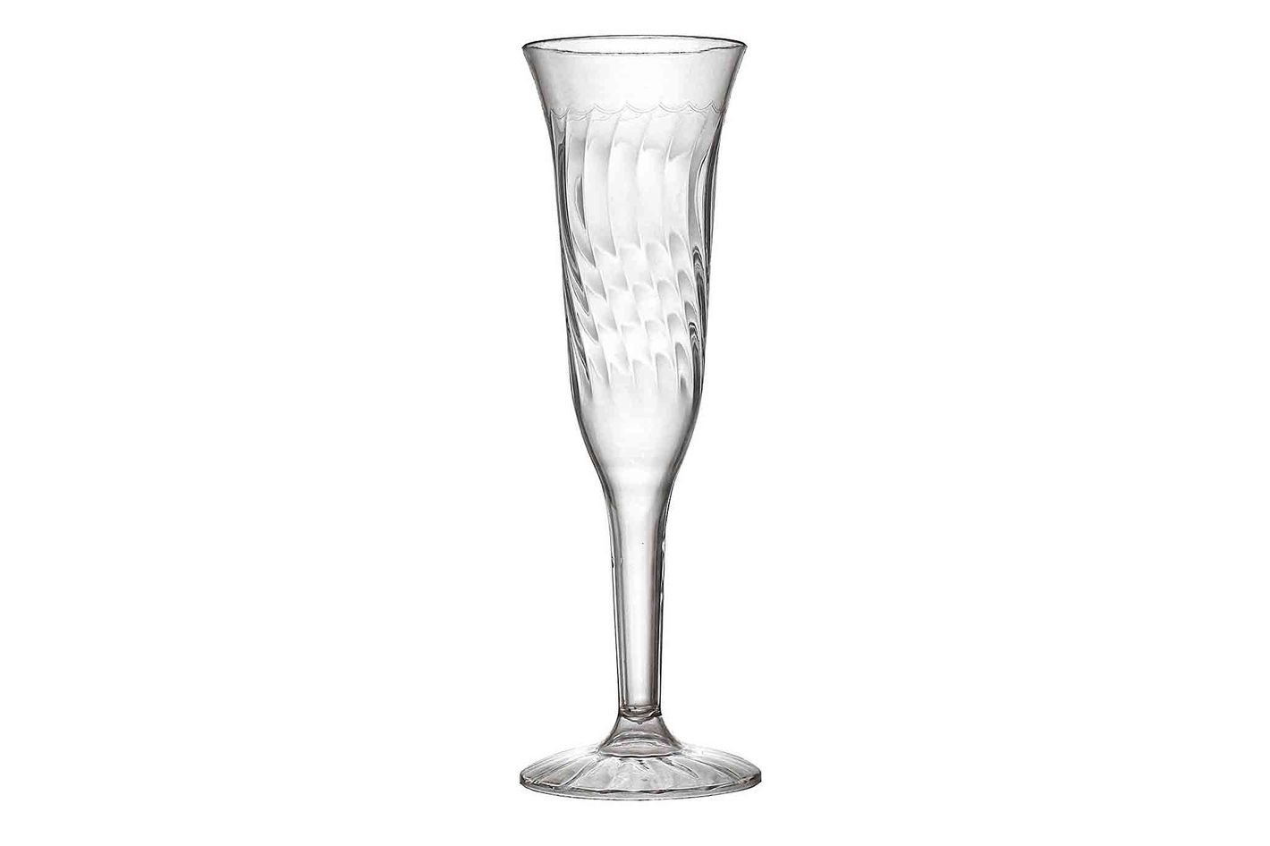 Fineline Settings 2106 — 5 Ounce Flairware ClearOne Piece Champagne Flute 96 Pieces