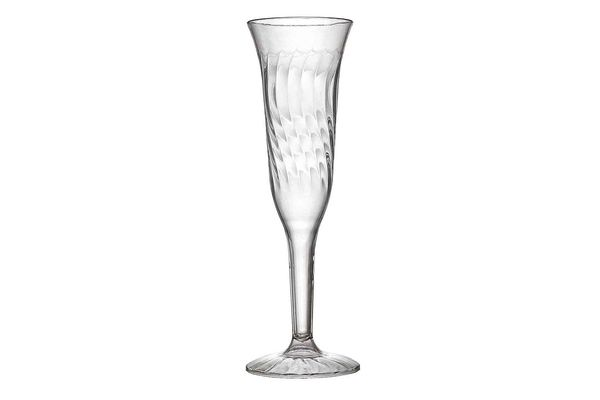 Fineline Settings 2106 5-ounce Flairware ClearOne Piece Champagne Flute 96 Pieces