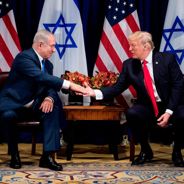 President Trump and Israeli Prime Minister Benjamin Netanyahu.