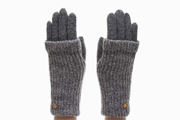 MIRMARU Winter Wool Blend Double Layer Knitted Warm Gloves