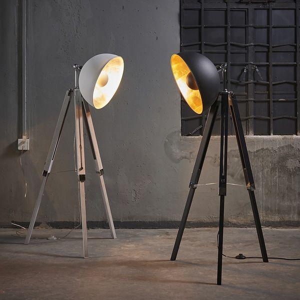 Versanora Fascino Tripod Floor Lamp, White, 63