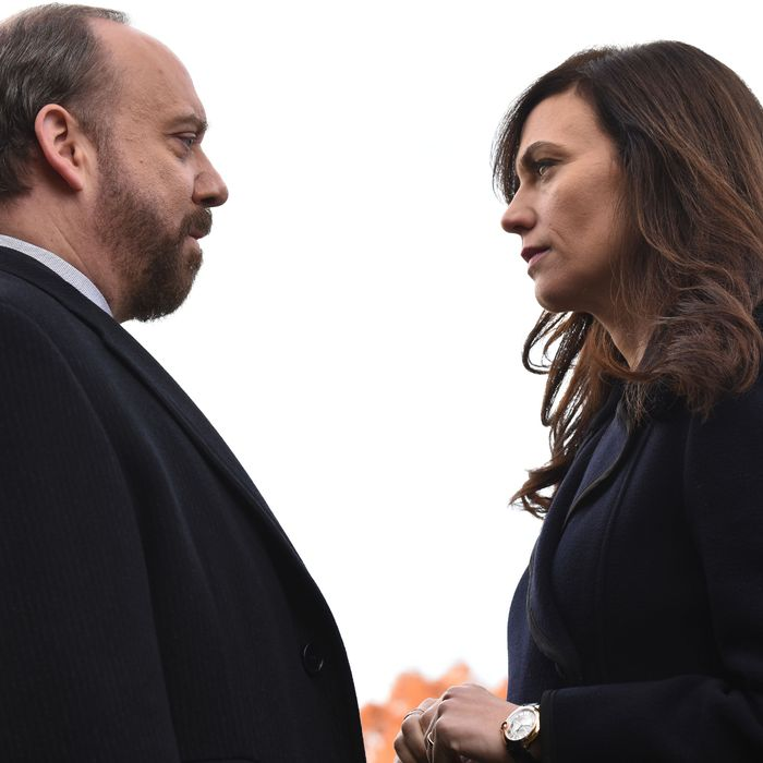 Chuck and Maggie on 'Billions'