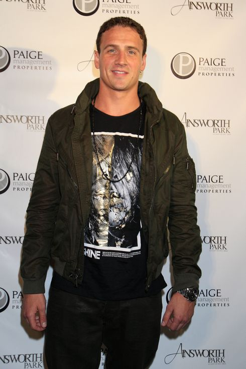 "NEW YORK, NY - SEPTEMBER 06:  Ryan Lochte at a photocall during Ryan Lochte Hosts ""Guys Fashions Night Out"" Presented By Ainsworth Park and Windsor Custom on September 6, 2012 in New York City.  (Photo by Michael Cohen/Getty Images for Fingerprint)"
